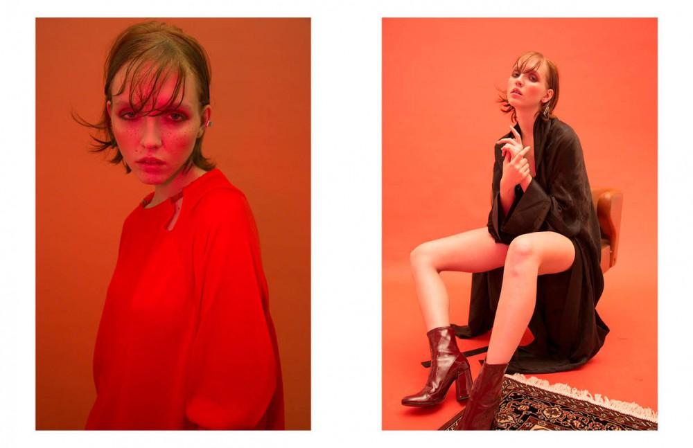 Kimono / Grinko Earrings / Design Digest Boots / Miu Miu
