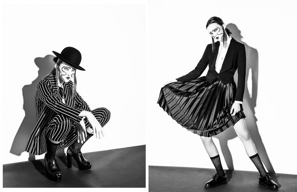 Hat / Claudia Schulz Blazer / Topshop Blouse / Vintage Trousers / Topshop Shoes / Rachel Zoe Opposite Blazer / Vintage Shirt / Juliann Jasmine Skirt / BCBG Socks / Hue