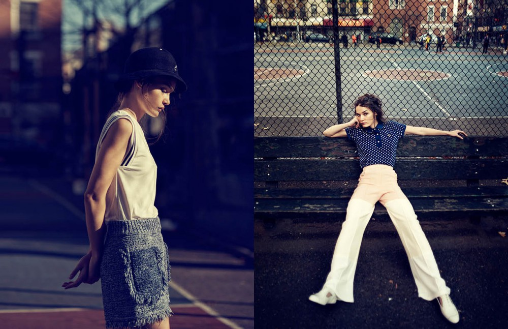 Top / Lacoste Shorts / M Missoni Hat / Kangol Opposite Top / Fred Perry Trousers / Madiyah Al Sharqi Shoes / Dr. Martens