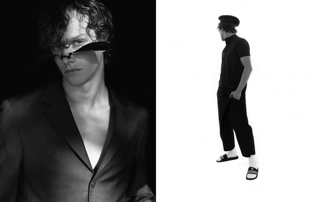 Blazer / Kenzo Nose piece / House of Malakai Opposite Shirt / Rad Hourani Trousers / D. Gnak Hat / House of Malakai Shoes / Givenchy