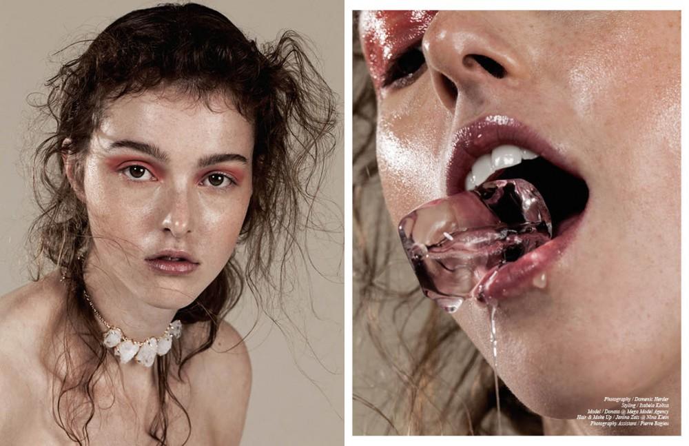Necklace / Koshikira Eyeshadow / Smashbox Blush / Chanel Opposite Eyeshadow / MAC Skin gloss / Elizabeth Arden