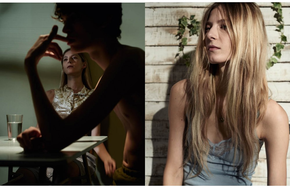 Lorenzo wears: Trousers / Clara Martin Martyna wears: Blouse / Vintage Shorts / Hanro Opposite Vest / Rebecca Minkoff