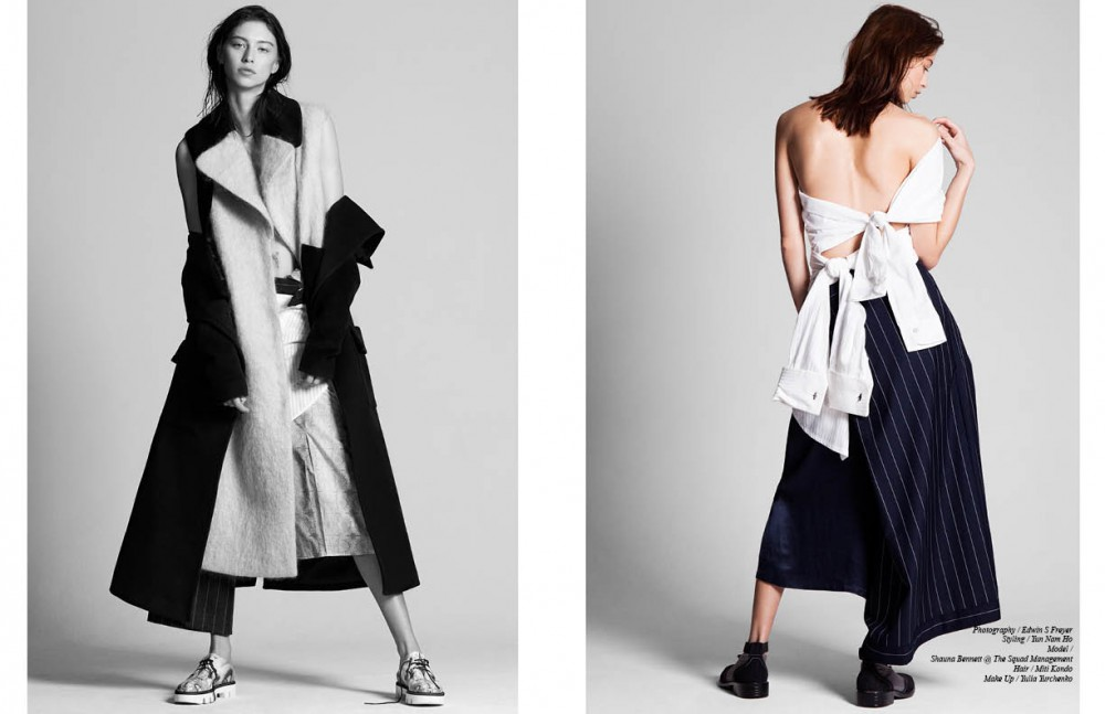 Coat & waistcoat / Yuzzo Striped trousers / Ziqing Zhou Marble trousers / Sydney Davies Shoes / Ganor Dominic Opposite White shirt / Sydney Davies Wide trousers / Renli Su Striped shirt/ trousers & shoes / Ziqing Zhou