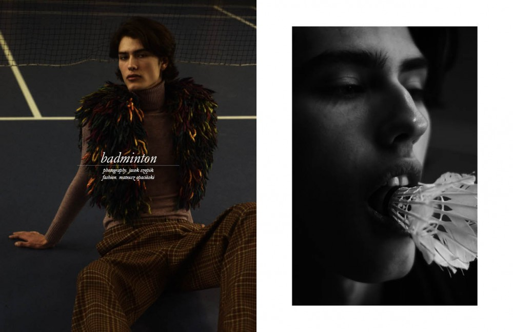 Jacket & trousers / MICHAŁ WÓJCIAK Turtleneck / Hugo Boss Opposite Coat / Ader Error