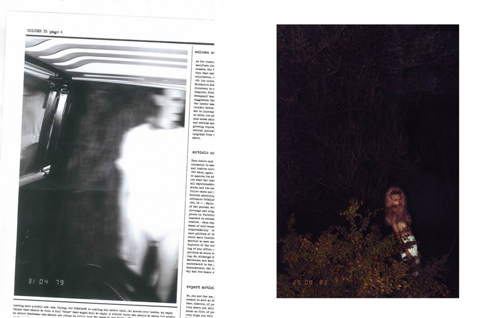 Top / Salvatore Ferragamo Body Suit / Zaid Farouki Opposite Hood / Saks Potts Bottoms / Faissal El-Malak