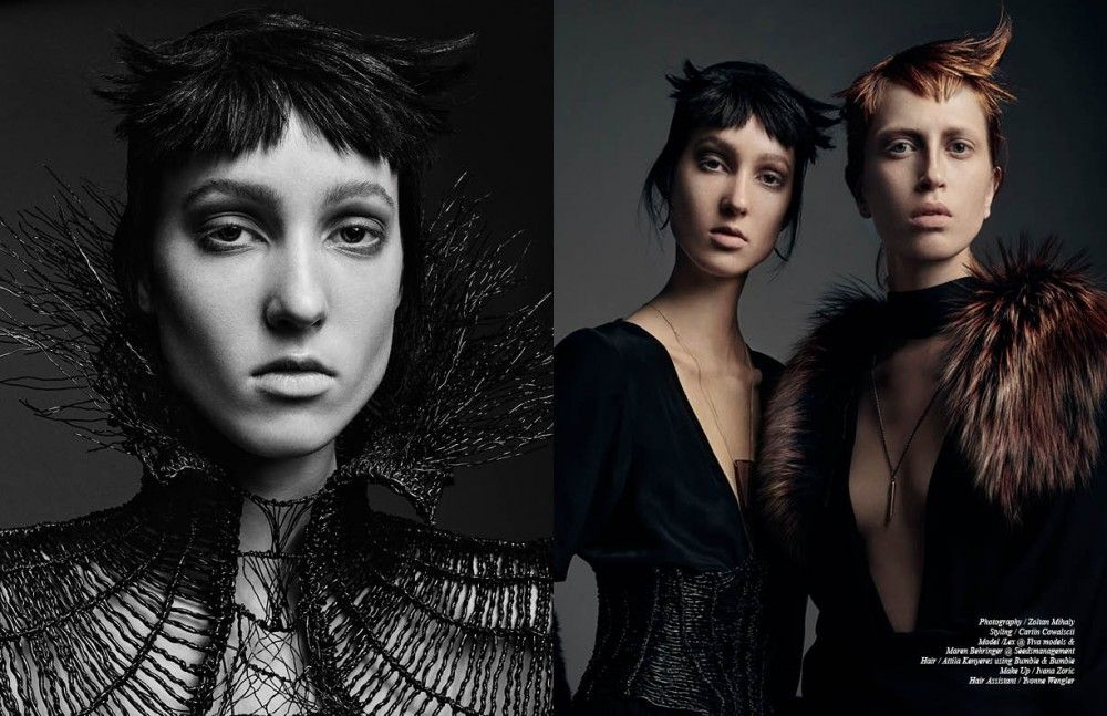 Art pieces / Dana Mikelson Opposite Cape / Sammler Berlin One-piece / Glaw Corset / Dana Mikelson Necklace / na.hili Earrings / Angela Gomez Jewellery One-piece / Evis Fur / Sammler Berlin Necklace / Angela Gomez Jewellery